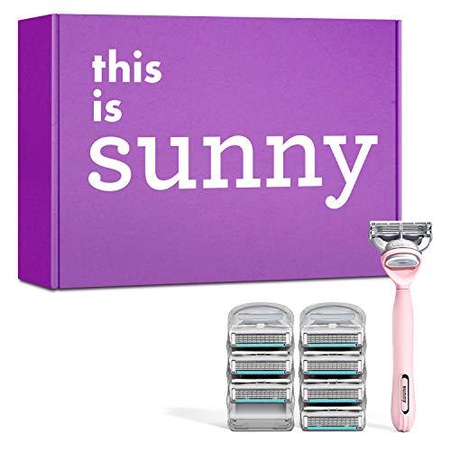 Sunny – The Pink Starter Pack – Griff und 8 x Rasierklingen