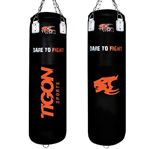 Tigon Heavy Rexion Leder Boxsack gefüllt 122 cm MMA Boxhandschuhe Kickboxen Muay Thai Training