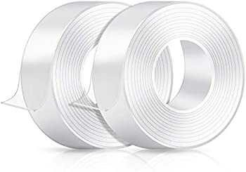 2-Rolls Broom 16.5ft Double Sided Heavy Duty Mounting Tape
