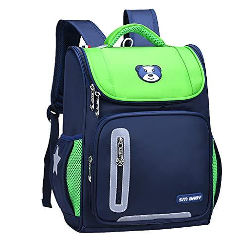 Fulltime (TM) Mochila escolar grande, informal, de gran capacidad, mochila unisex de nailon, mochila de senderismo, mochila deportiva para portátil, Green (Verde) - Fullnoon_Backpack
