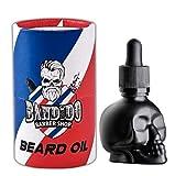 Bandido Barbershop Beard Oil 40ml Bart Öl für die tägliche Bartpflege von 3-Tage-Bart bis Vollbart Bartpflege Öl Männer Hochwertiges Schwarzes Totenkopf Bartöl Herren Sicherheitsverschluss
