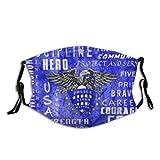 Bandera de Estados Unidos oficial de policía azul lavable al polvo filtro reutilizable y boca reutilizable caliente a prueba de viento cara de algodón
