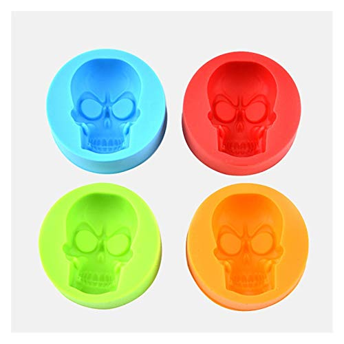 AFTWLKJ 3D Skull Silicone Mold Ice Cube Maker Chocolate Mould Tray Ice Cream DIY Tool Whiskey Wine Cocktail Ice Cube Best Sellers (Color : Random)