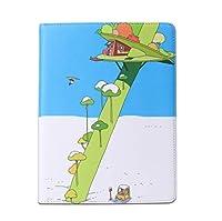 お洒落 可愛い 2019 iPad Air 10.5インチ iPadPro10.5 iPad Air3 ケース 木 海 部屋 アイパッドエア 3 プロ10.5 レザーケース キュート 女性 人気 オートスリープ 耐衝撃 ブック型 (iPadAir3/iPadPro10.5, 樹屋)