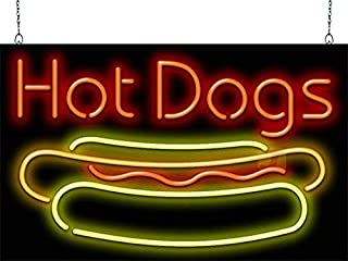 Sponsored Ad - Hot Dogs w/Dog Neon Sign