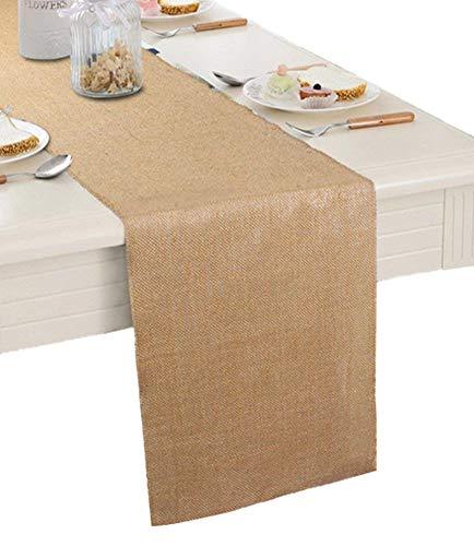 Burlap Table Runner 12' X 108''- Rustic Wedding Decoration Table Runner Decoration - Dining Table...