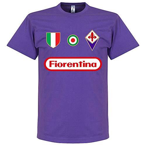 Fiorentina - Maglietta Ribery 7, colore: Viola, Unisex - Adulto, Raissa metallizzate, Medium
