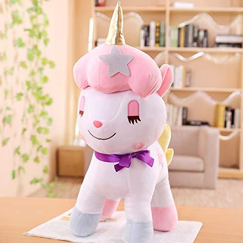 WPYLY Cute Rainbow Unicorn Doll Pony Plush Toy Girl Pillow Ragdoll Parent-child Children Doll 30cm A