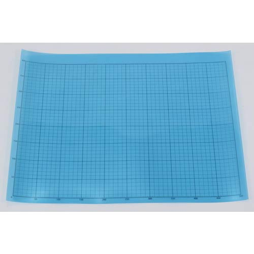 TRUSCO(トラスコ) 液晶保護フィルム フッ素反射防止 基材100ミクロン シリコン粘着剤50ミクロン 400MMX500MM 方眼印刷、R定規付 TEHF-4050NR