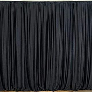 AK TRADING CO. 10 feet x 10 feet Polyester Backdrop Drapes Curtains Panels with Rod Pockets - Wedding Ceremony Party Home Window Decorations - Black