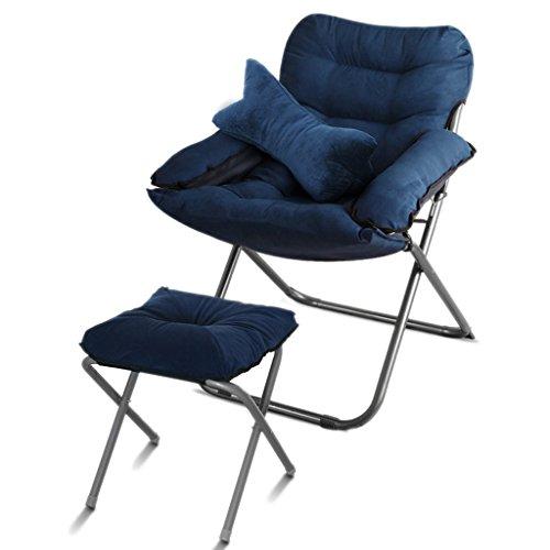YLLXX Creative Loisirs Pliant Chaise Maison Chambre Moderne Minimaliste Balcon Inclinable Dortoir Ordinateur Chaise Paresseux Unique Canapé Chaise (58 * 66 * 91 Cm)