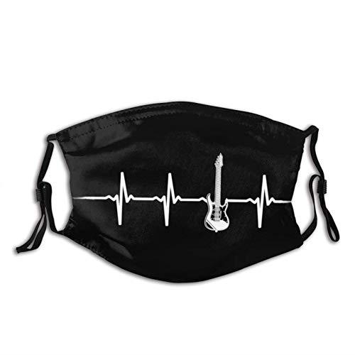 Guitarra eléctrica Heartbeat Face M-A-S-K, cómodo pasamontañas reutilizable bandana bufanda ajustable para...
