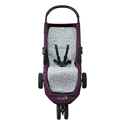 JANABEBE - Cuscino per Sedile Baby Jogger City Mini (White Star)