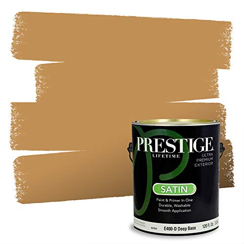 Prestige Paints Exterior Paint and Primer In One, 1-Gallon, Satin, Comparable Match of Sherwin Williams* Bosc Pear*