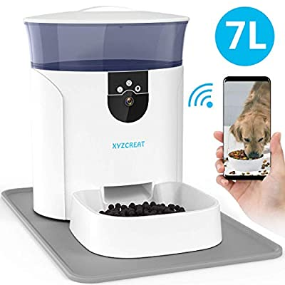 Automatic Dog Feeder with Camera, XYZCREAT 7L A...