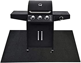 Under The Grill Protective Deck and Patio Mat, 36 x 72 inches, Use This Absorbent Grill Pad Floor Mat for Your BBQ Grilling Gear Gas Electric Grill Without Grease Splatter and Other Messes