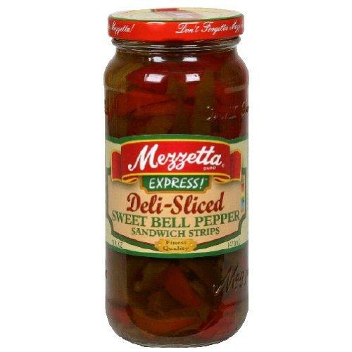 Mezzetta Deli Sliced Sweet Bell Pepper Sandwich Strip, 16 Ounce - 6 per case.