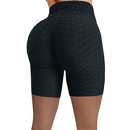 COOKI Women's High Waist Yoga Pants Scrunch Leggings Ruched Workout Butt Lift Pants Tummy Control Tights