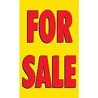 ハーフプライス バナー | 販売 ビニールバナー - 屋内/屋外 | ボールバンジー & ジップタイ付き | 簡単吊り下げサイン - 米国製 5'x3'
