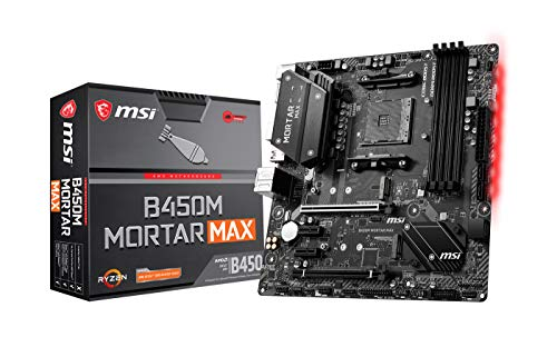 MSI B450M MORTAR MAX AMD AM4 DDR4 m.2 USB 3.2 Gen 2 HDMI M-ATX Gaming Motherboard