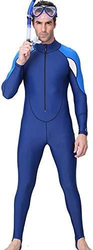 Hommes Combinaison à Manches Longues Scuba Snorkeling Combinaison De Plongée Hommes Rash Guard UV Soleil Prougeéger Maillots De Bain Costume De Plongée pour Hommes 5mm,XXXL