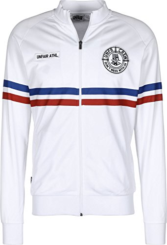 Unfair Athletics Herren Zipper DMWU Tracktop Tricolore White Blue Red, Größe:XXL
