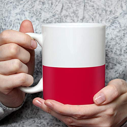 Geschenk Tasse mit Flagge Polen Länder Flaggen Geburtstagsgeschenk Souvenir Poland für Reiseliebhaber Frauen Männer