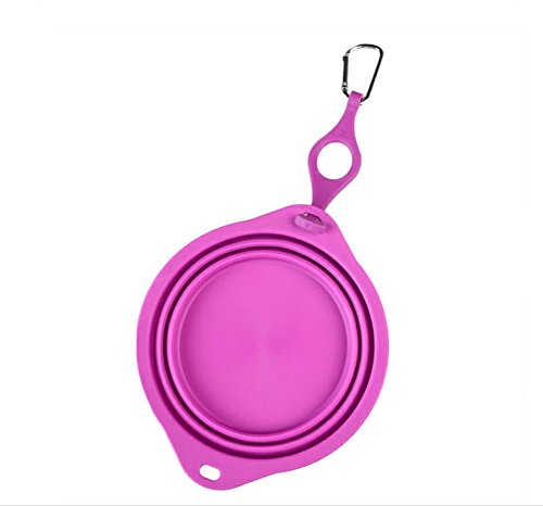 Cutepet Futternapf Für Hunde Und Katzen Tragbare Faltbare Wasserdichte Hundeschüssel Candy Farbe Mehrfarbig Optional BL-30296,Purple