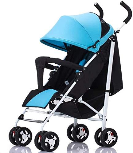 TQJ Cochecito de Bebe Ligero Creativo Nuevo Cochecito de bebé Ultraligero Puede Sentarse reclinable Carrito de Paraguas bebé Plegable Cochecito de niño Mano del niño (Color : #2)