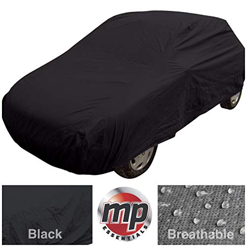 MP Essential Indoor & Outdoor All Season Water Resistant & Breathable Full Car Cover - BLACK (4x4 - L 193' x W 87' x H 75')