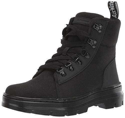 Dr. Martens Women's Combs W Combat Boot, Black+Black Ajax+Extra Tough Poly, 9