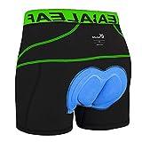 BALEAF Herren Fahrradhose Kurz Gepolstert Atmungsaktive Fahrradunterhose Coolmax 4D Gel Sitzpolster Grün XL