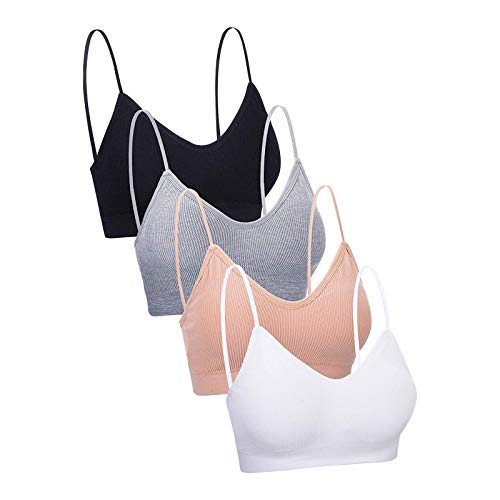 Corlidea Damen Seamless Sport BH Ohne Buegel Push up Yoga Sports BH Bra Top Set Fur Fitnesstraining Polsterung