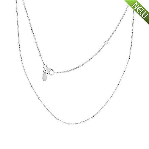 PANDOCCI 2018 Sommer Silber Perlen Halskette Kette 925 Silber DIY Passend für Original Pandora Charm Modeschmuck