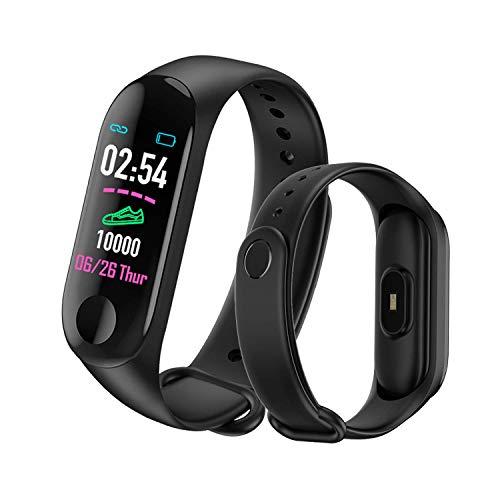 MATEYOU wasserdichte Fitness Tracker V3 aktualisierte Version für Frau, USB-Aktivitäts-Tracker IP67, Geschenk für Mann und Frau, 10-15 Tage Standby