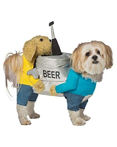Horror-Shop Bierfass Hundekostüm als originelle Karnevals Verkleidung für Vierbeiner M