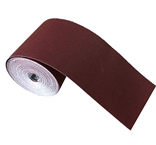 Schleifpapier Rolle, 115 mm x 25 m, Korn 80, Aluminiumoxid Rolle