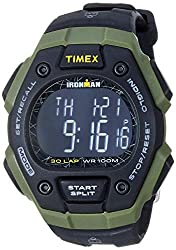 top 10 mens athletic watches Timex TW5M24200 Iron Man Classic 30 Men's Watch Black / Green / Negative Polymer Strap