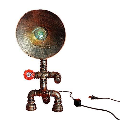 Mutmi Lámpara de Mesa Industrial Industrial E27 Lámpara de piloto de Agua de Hierro básica, Establecido en la lámpara de la Cama en la Sala de encuestas (sin Pera)