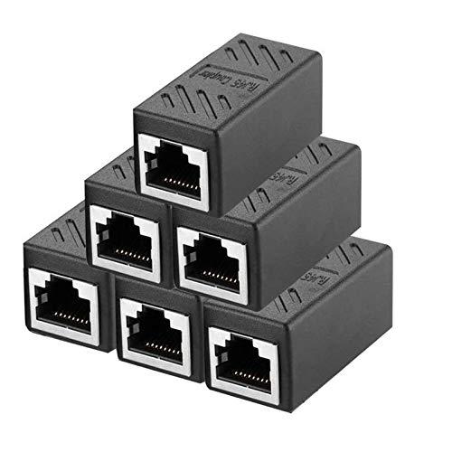6 conectores RJ45 Ethernet para cable de red compatible con Cat7 Cat6 Cat5 Cat5e