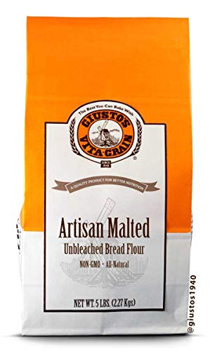 Giusto's Vita-Grain All-Natural Artisan Malted Unbleached Bread Flour, 5lb Bag