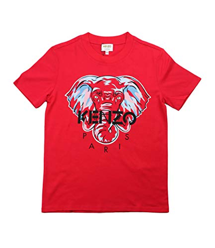 Kenzo T-Shirt Bambino Rosso KR10638 Rosso 10 Anni
