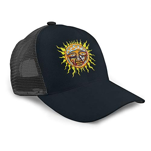 Sublimes Iconic Sun Logo Adult Mesh Back Trucker Hat Men Women Breathable Baseball Cap Black