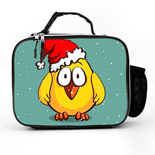 happygoluck1y Kerst Kip In Hoed Lunch Tassen Geïsoleerde Rits met Zakken Draagbare Lunch Box voor Vrouwen voor Werk voor Kinderen