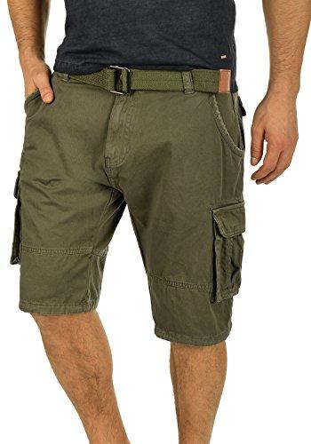 Indicode Costa Herren Cargo Shorts Bermuda Kurze Hose Mit Gürtel Aus 100% Baumwolle Regular Fit, Größe:XL, Farbe:Army (600)