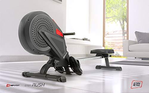 Hop-Sport Luft-Rudergerät Rush Air-Rower mit Computer, Luft Air Rower klappbar für Zuhause, 8 Luftwiderstandsstufen - 2