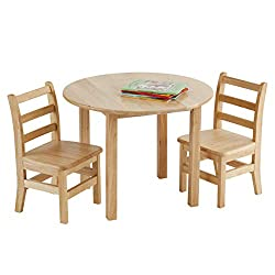 Best 2 in 1 Round Toddler Table and Chairs Set