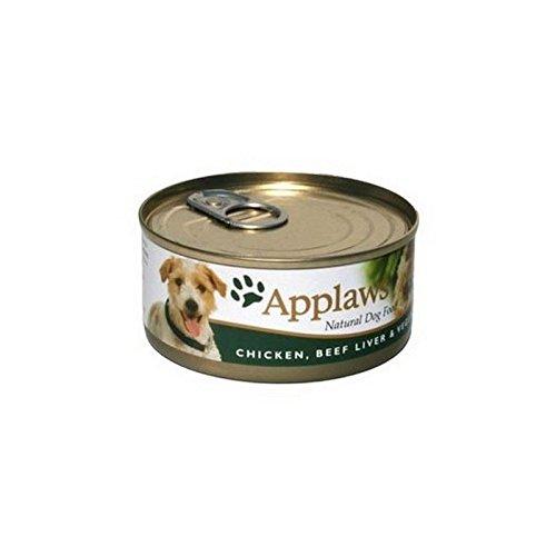 Applaws Adult Hundefutter Dose Mit Huhn, Rind Leber Und Gemüse M (156G) (Packung mit 6)