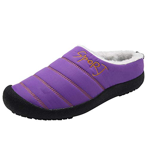 Learn More About Women's Winter Warm Slippers with Fuzzy Plush Lining Slip on House Shoes with Indoo...