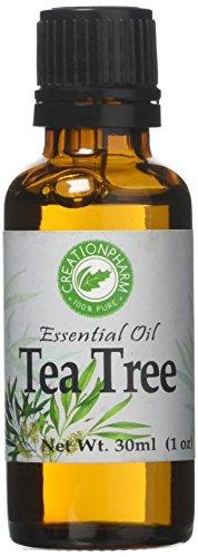 Creation Pharm Tea Tree Essential Oil - Pure Australian Tea Tree Oil- Aceite Esencial Arbol de Té 1 OZ (30ml) for Aromatherapy. Diffusers, DIY Remedies and Blends